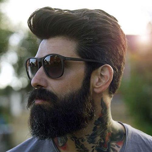 Красивый с бородой, как последняя модная тенденция