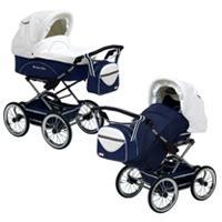 Детская коляска 2 в 1 Stroller B&E Elite XL кожа