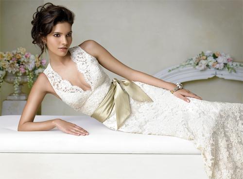 Свадебные платья с кружевом: будьте самой романтичной невестой
