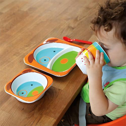 Детская посуда skip hop из меламина, стеклокерамики и бамбука
