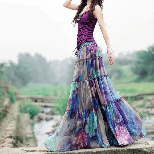 Длинные юбки для молодой мамы