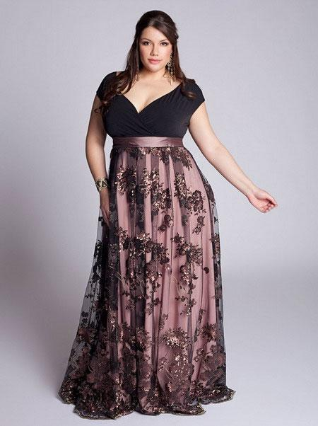 Вечерние платья для дам с роскошными формами