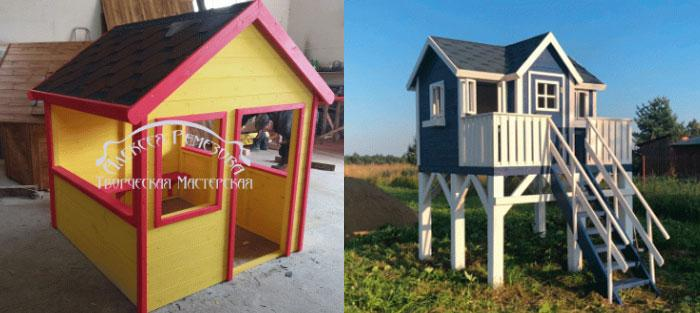 Детские домики из дерева